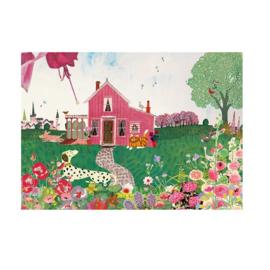 Postkaart | Roze huis