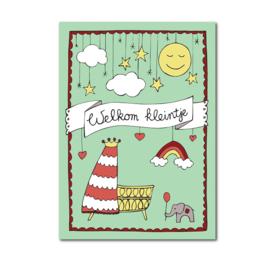 Postkaart | Welkom kleintje