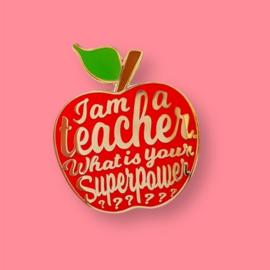 Pin Teacher | Rood
