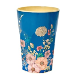 Rice melamine hoge beker | Flower collage