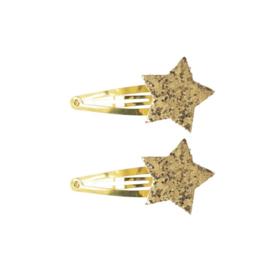 Haarknipjes Glitter Ster | Goud