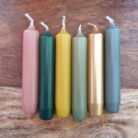 Set van 6 kaarsen | Hunting green | Rustik Lys