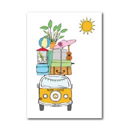 Postkaart | Volkswagen bus