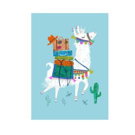 Postkaart   Lama