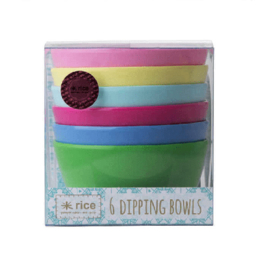 Rice melamine dipping bowls | Classic colors
