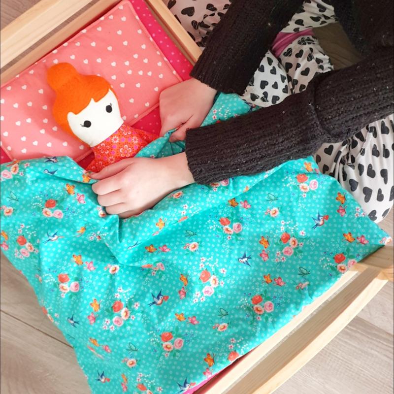 Set van deken, kussen en matras voor poppenbedje DUKTIG   IKEA