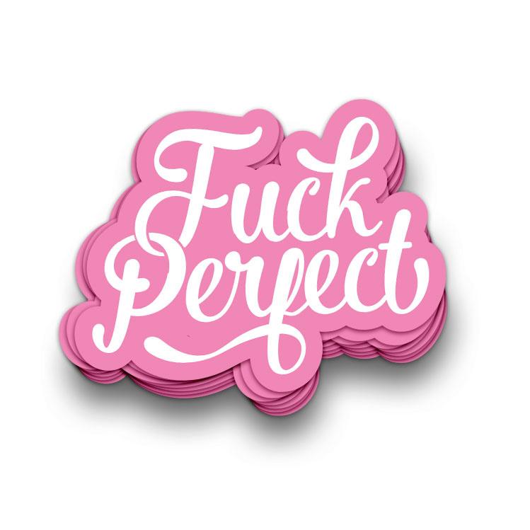 Sticker XL | Fuck perfect