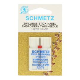 Tweelingnaald Borduur 2,0/75 Schmetz