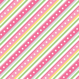 Diagonale stripe pink