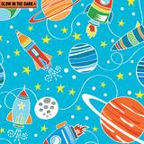 Intergalactic Planets Sky Blue