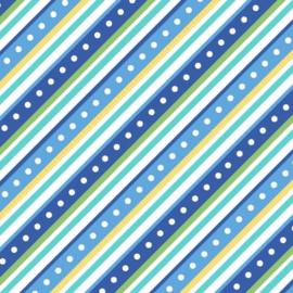 Diagonale stripe blue