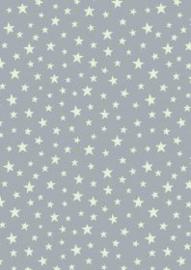 Glow stars on grey