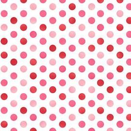 Confetti Dots White/Red