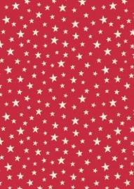 Glow stars on red