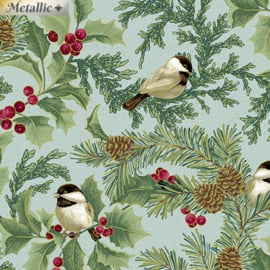Chickadee & Holly Alover Seamist