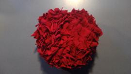 Fluffy hart effen donker rood