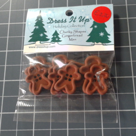 Chunky Shapes Gingerbread Men