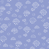 Dreamy Clouds Periwinkle