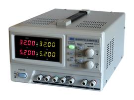 Regelbare voeding 2x30V/5A digitaal programmeerbaar