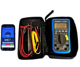 Multimeter met mobiele app-batterijtester