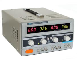 Regelbare voeding 2x 0-30V/2x 0-5A