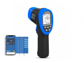 Infrarood thermometer -50  +800°C BLUETOOTH / APP
