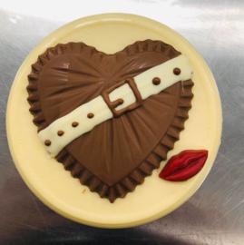 Chocoladehart (hart onder de riem )