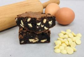 Brownie white chocolate 8 of 16 stuks