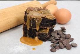 Zeezout karamel brownies 8 of 16 stuks