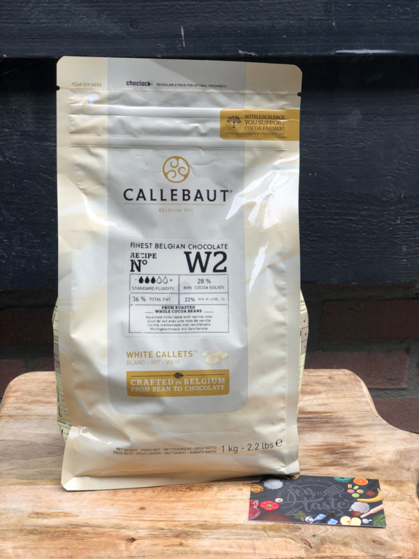 Chocoladedruppels Callebaut wit