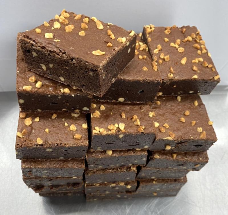 Brownie pinda stukjes