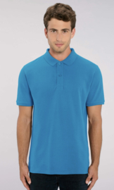 Organic Men Polo | Azuur Blue