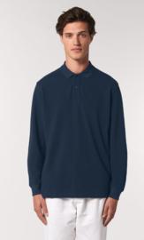 Organic Dark Blue - Long Sleeve Polo