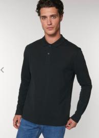 Organic Black - Long Sleeve Polo