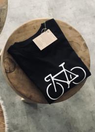 Fiets  T-shirt - Zwart of Wit