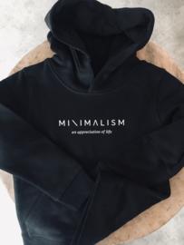 Minimalism | Black Hoodie Unisex
