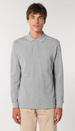 Organic Grey - Long sleeve Polo