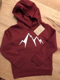 Mountain | Men Hoodie Winter Red Unisex