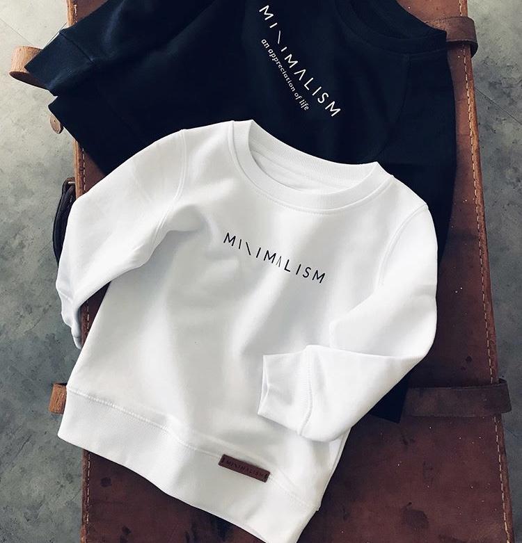 Kids Sweater Black   Minimalism