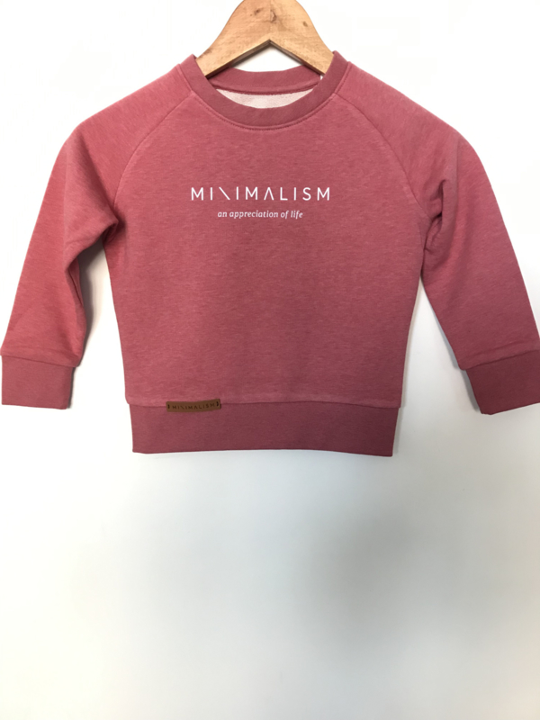 Organic Kids Sweater Coral Pink   Sold out