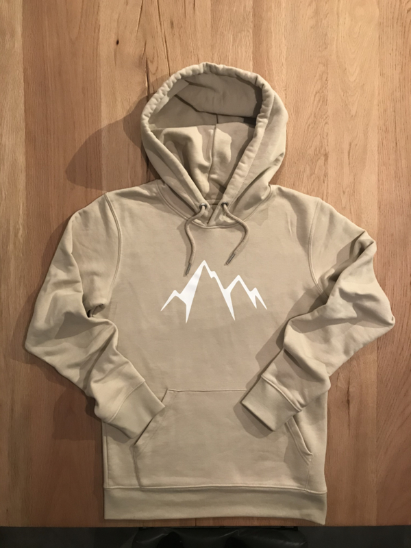 In to the Mountains Hoodie Unisex | Beige