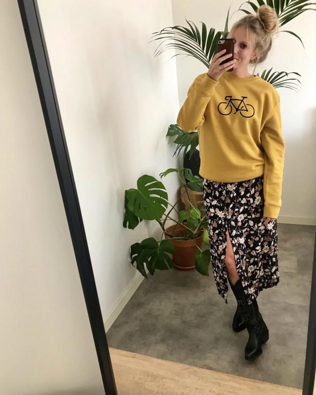 Bike   Oker Yellow Sweater Unisex