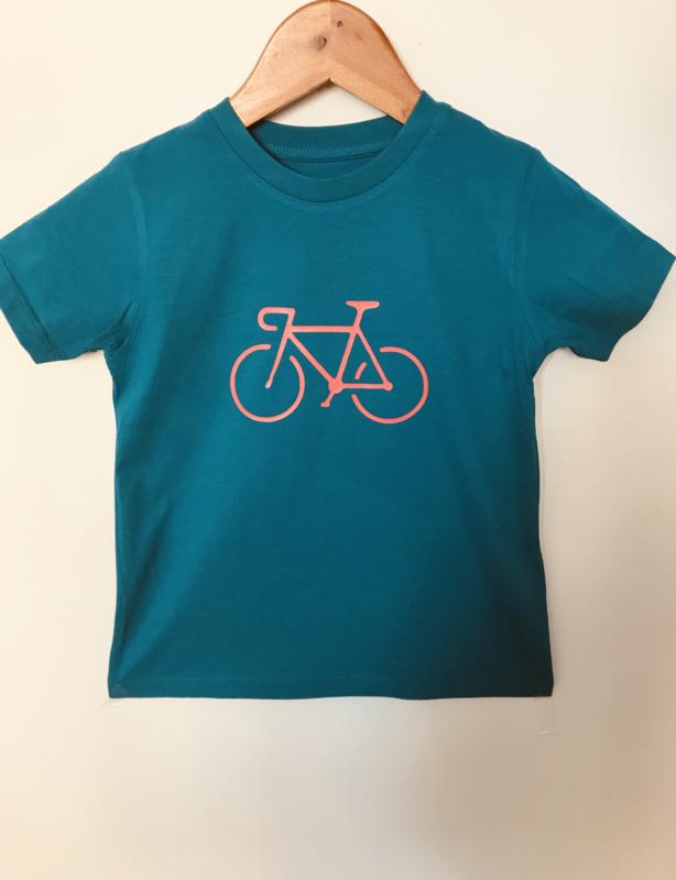 Organic Cycling Kids T-Shirt Petrol