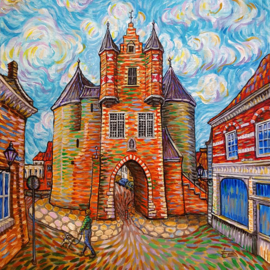 Schilderij Bergen Op Zoom Gevangenpoort Als Van Gogh