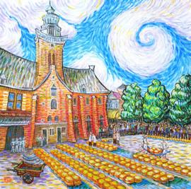 Alkmaar Cheese Market Like Van Gogh