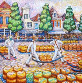 Alkmaar Cheese Carriers Like Van Gogh