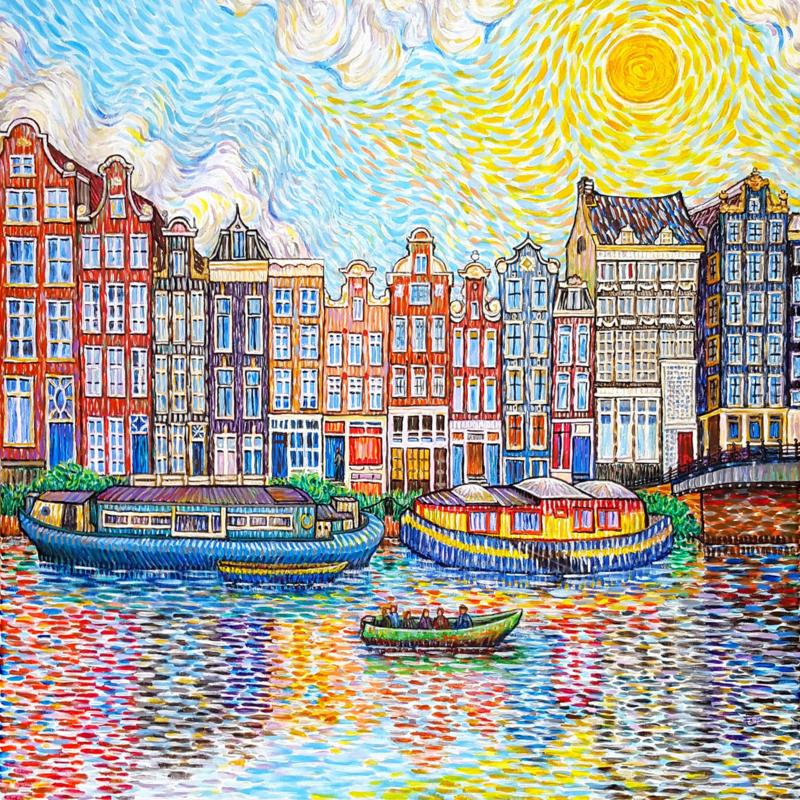 Amsterdam Canal Like Van Gogh