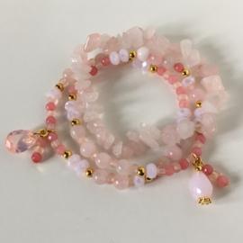 Facet - sparkle pink gold