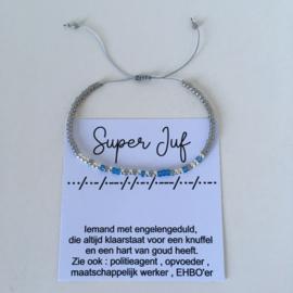 Morse Super Juf grijs-blauw