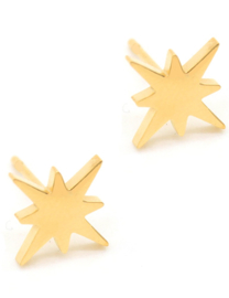 Northern star studs rvs gold
